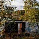 做梦都想在这样的森林小屋里洗桑拿
