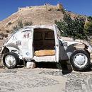 自称世界最小的甲壳虫酒店 一次只能住两个客人