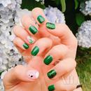 森女风仙气美甲 这个夏天让指尖感受大自然