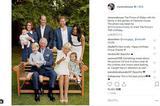 英国查尔斯王子70岁生日全家福曝光 威廉哈里齐亮相超有爱