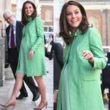 凯特王妃挺9个月孕肚踩高跟 带球走如何凹造型了解下