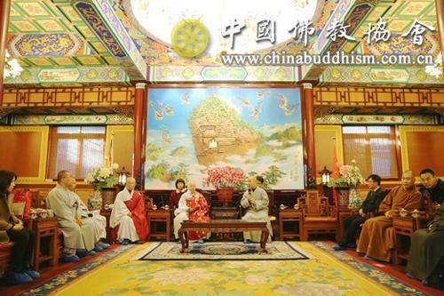 韩国佛教天台宗春光长老一行参访中国佛教协会