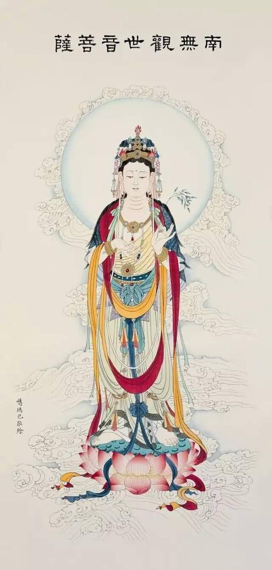 观世音菩萨因为'闻声救苦',所以名为'观世音'。