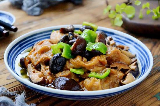 素食养生:香菇油面筋(图)