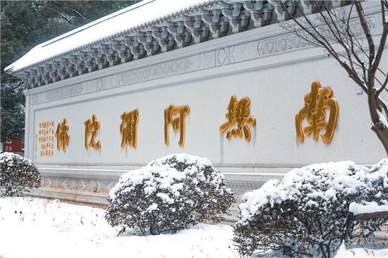 大乘佛法要求学佛人吃素,这是有经典依据的。(图片来源:东林寺)