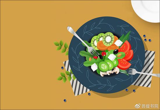 素食和素心相辅相成,做素食和吃素食的过程就是一个修心的过程。(图片来源:菩提书院)