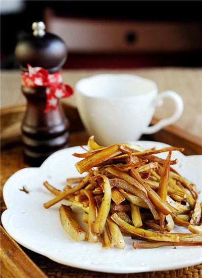 素食养生:脆烤杏鲍菇