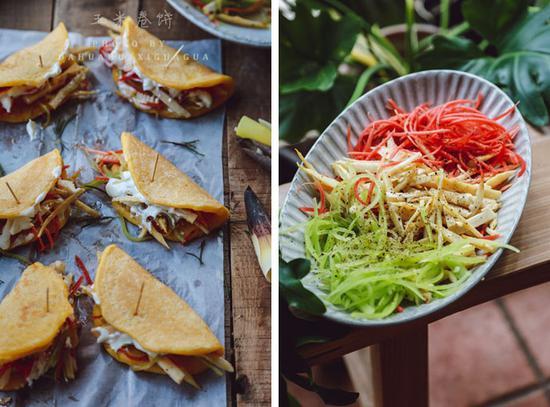 素食养生:玉米卷饼