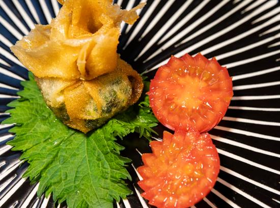 素食养生:脆炸蔬菜卷