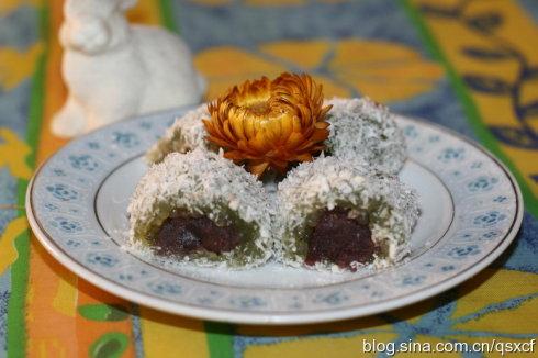 素食养生:抹茶西米卷