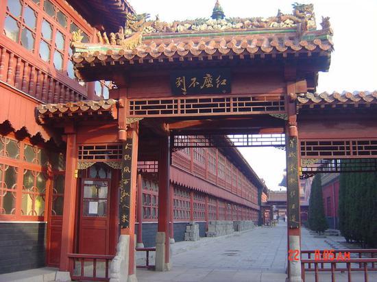 """""""柏林禅寺""""一座创建于东汉的千年古刹。(摄影:@箫吟清)"""