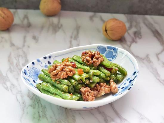 核桃四季豆