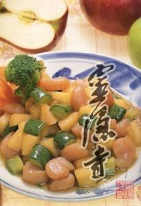 苹果素虾仁