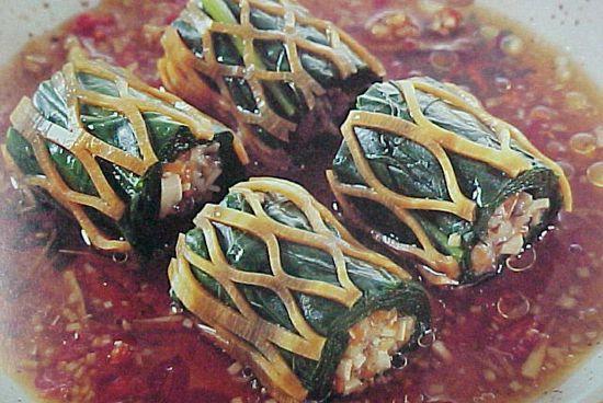 菠菜三丝卷
