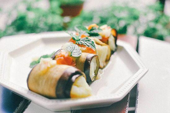 烤土豆泥茄子卷