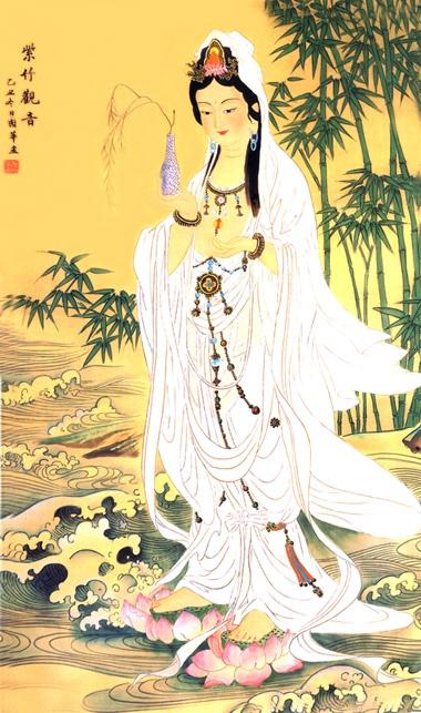 观音身穿白衣的象征意义。(资料图片)