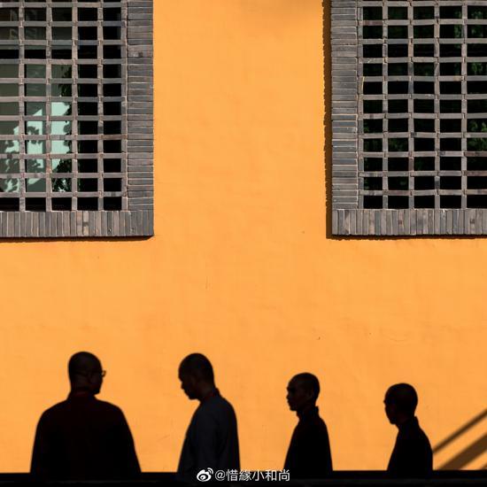 正确的姿势,包括行、坐、立、卧四种,以轻松端正为原则。(摄影:@惜缘小和尚)