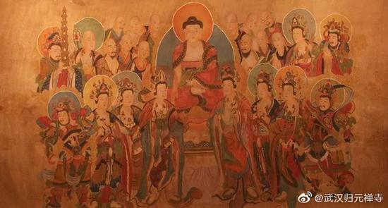 佛经画就其内容来分,可以有七类。(图片来源:武汉归元禅寺)
