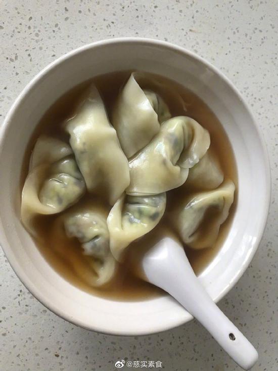 素食养生:香菇西葫芦馄饨(图)