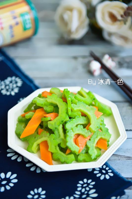 凉拌苦瓜胡萝卜,夏季必食祛暑降火排毒养颜菜。(图片来源:新浪博客)