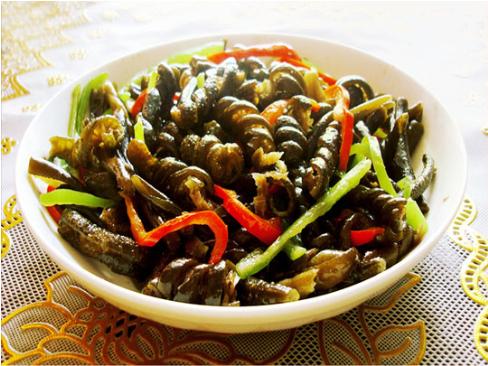 素食养生:爆炒海茸条