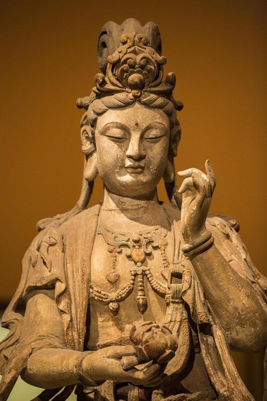 佛教历史上的菩萨性格是悲智双运,愿行勇猛,福慧齐修,慈悯一切。(摄影:海琳)