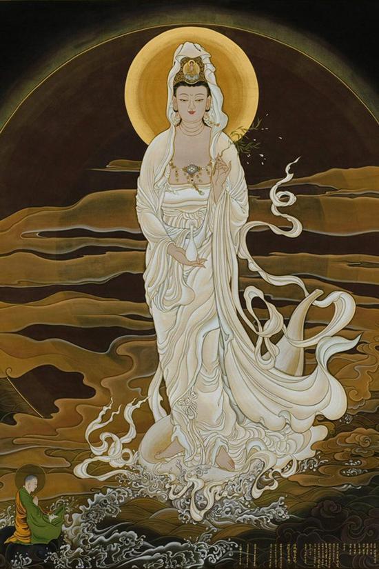 观世音菩萨是大爱的使者、慈悲的化身。