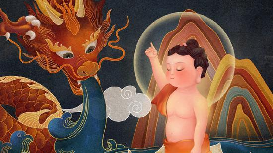 《浴佛功德经》中说,浴佛有十五种功德(图片来源:如瑞法师微博)