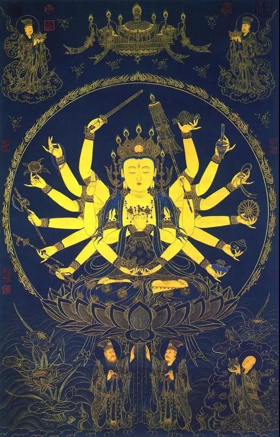 准提菩萨,又称准提观音、准提佛母、七俱胝佛母等。