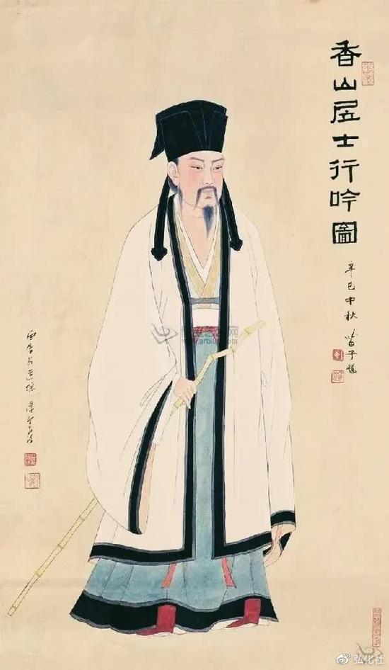 白居易,字乐天,号香山居士,唐代著名诗人。