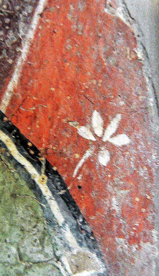 大英博物馆藏 五世纪 新疆和田壁画:持钵菩萨手片段