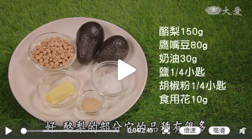 素食养生:牛油果鹰嘴豆豆泥