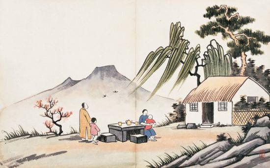 欢喜和祥和的佛化家庭