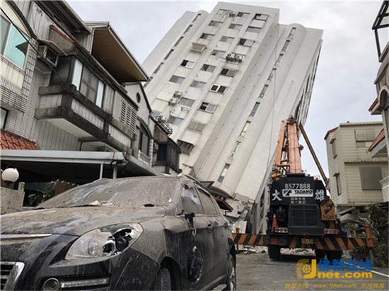 台湾花莲地震灾区现场