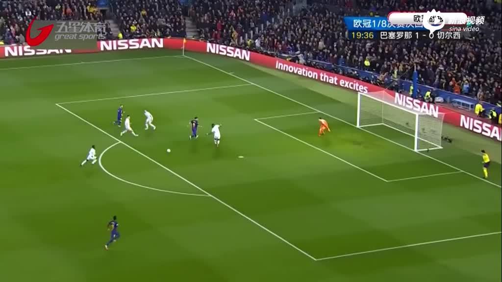 视频-梅西2球闪耀诺坎普 巴萨完胜切尔西晋级