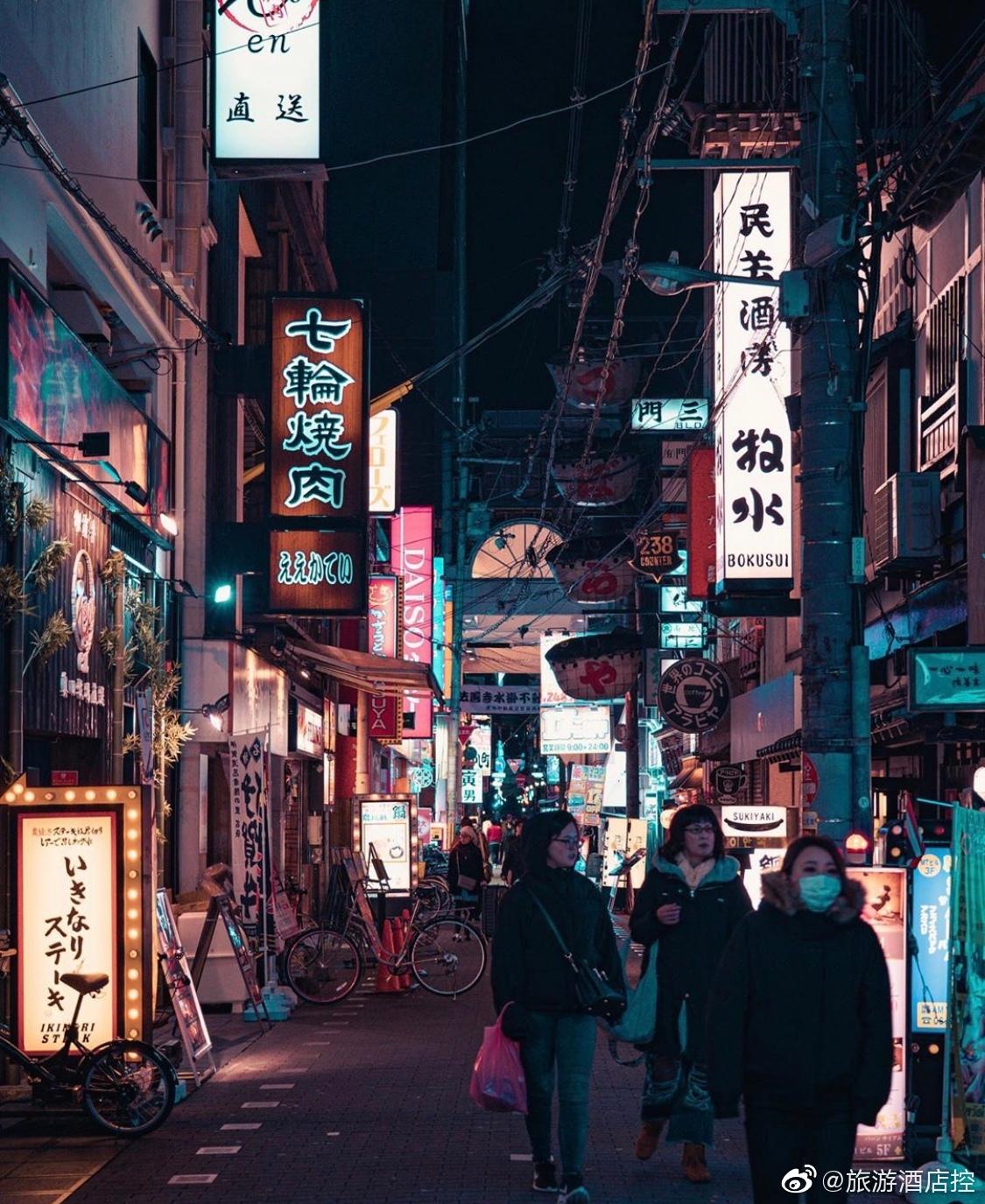 大阪心斋桥的大街小巷,如果偏离心斋桥的商业区