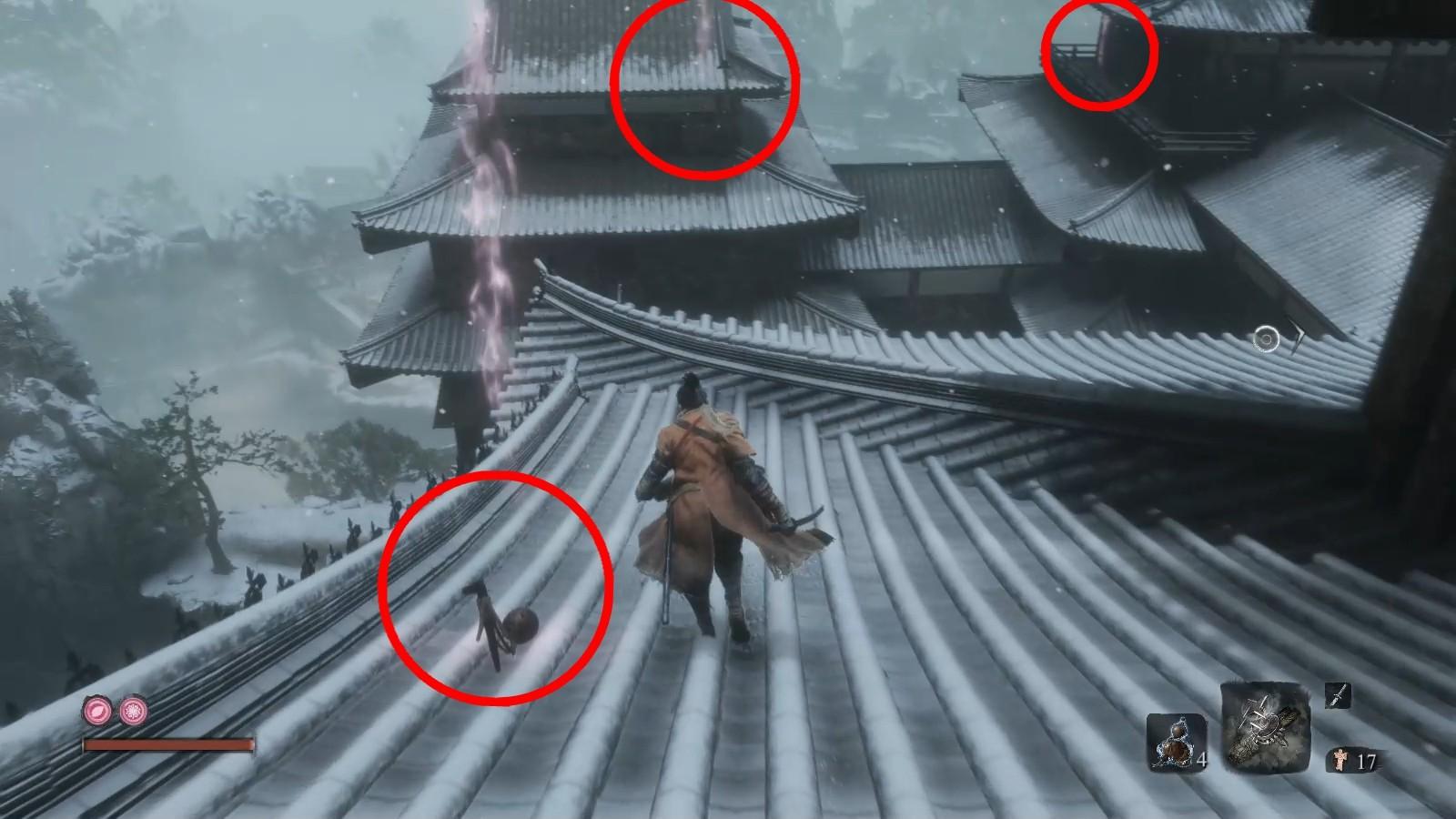 手柄大作只狼:影逝二度义手忍具攻略,机关伞获得位置