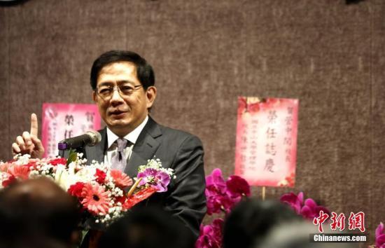 資料圖:2019年1月8日,管中閔就任臺灣大學舉行第12任校長。中新社記者 劉舒凌 攝