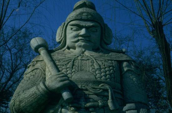 古代将军的石像