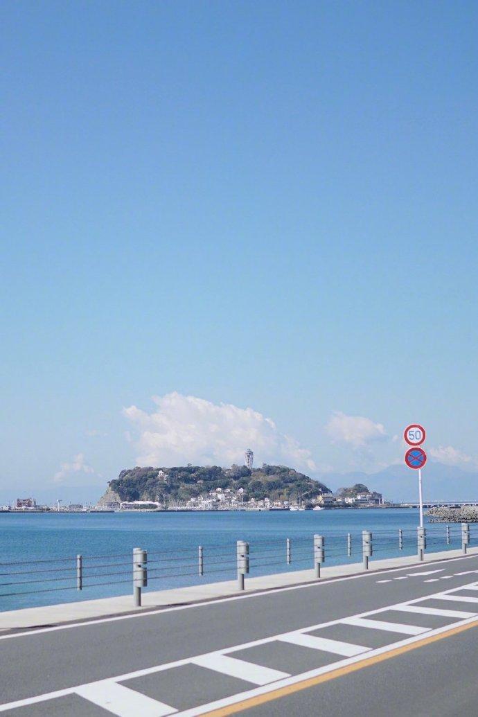 镰仓的海边风光