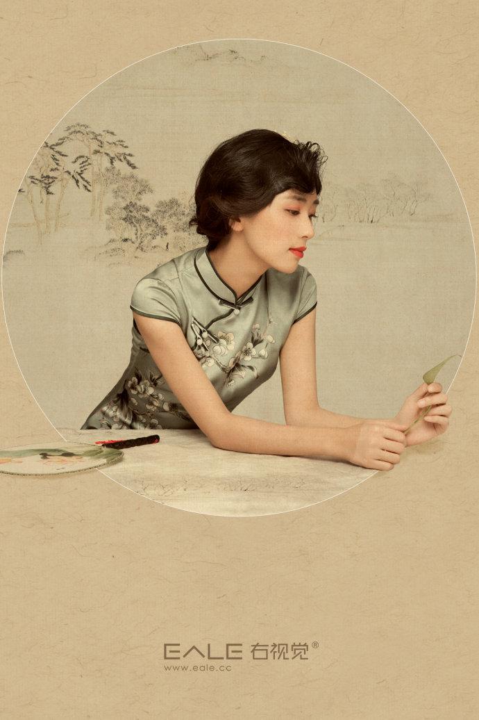 温婉动人的古典旗袍美女