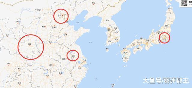中国古代北京、南京、东京、西京都是现代的哪个城市?