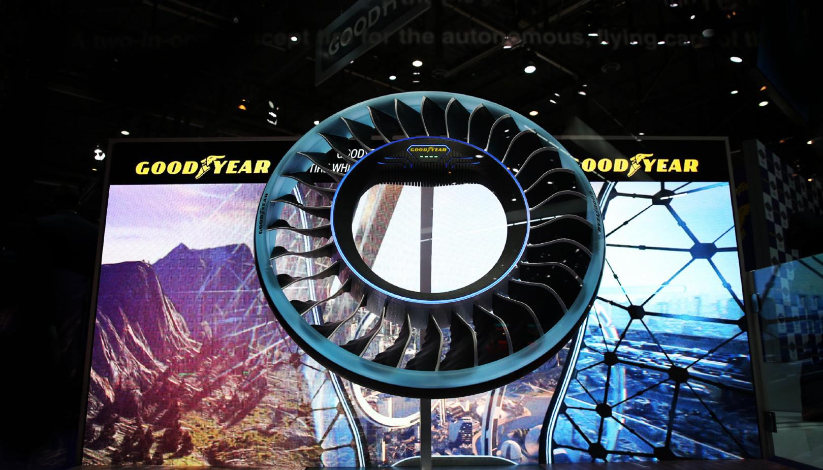 路空两栖,轮胎变翅膀,固特异带来飞行概念轮胎AERO