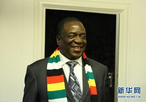 津巴布韦总统姆南加古瓦向中国人民拜年