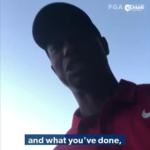 伍兹拍视频感谢球迷