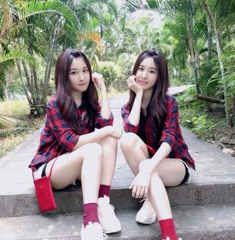 台湾萝莉双胞胎长大,变身长腿美少女,网友:这真的是17