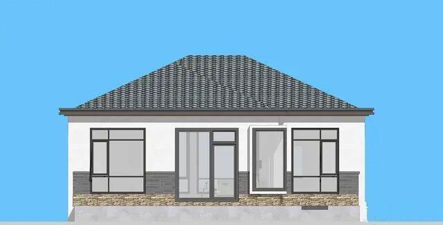 别墅设计:一层现代别墅,干净的外立面看起来特别舒服