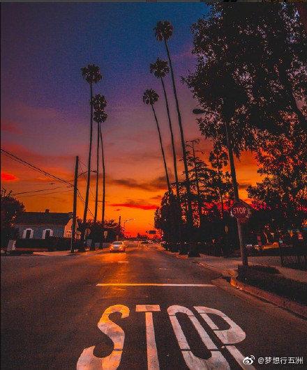 加利福尼亚的落日时分