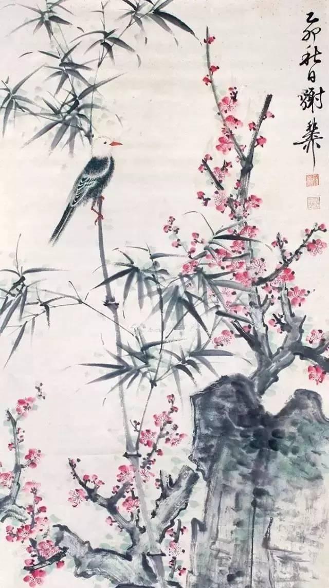 10位国画名家,30幅梅花画作,配上梅花诗词,好美图片