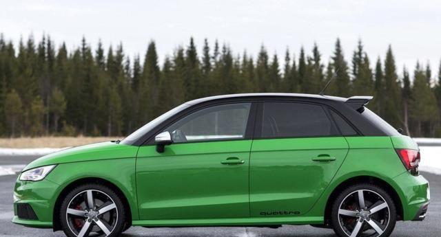 奥迪S1:此车外观比较帅气,看上去有力量感